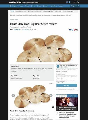MusicRadar.com Paiste 2002 Black Big Beat Series