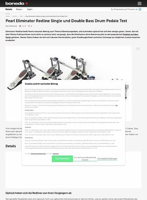 Bonedo.de Pearl Eliminator Redline Single und Double Bass Drum Pedale