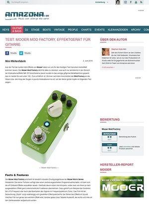 Amazona.de Test: Mooer Mod Factory, Effektgerät für Gitarre