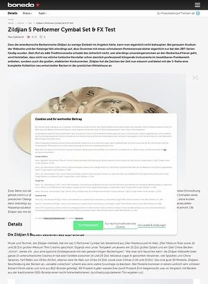 Bonedo.de Zildjian S Performer Cymbal Set & FX