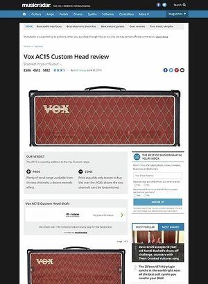 MusicRadar.com Vox AC15 Custom Head