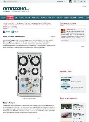 Amazona.de Test: DOD Looking Glas, Verzerrerpedal für Gitarre