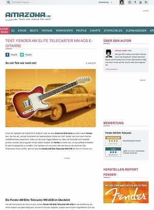 Amazona.de Test: Fender AM Elite Telecaster MN ACB, E- Gitarre