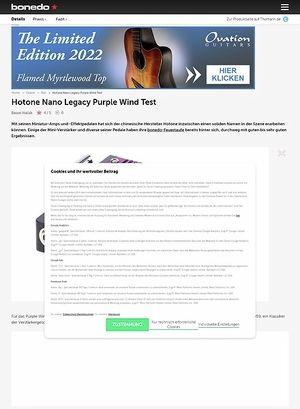Bonedo.de Hotone Nano Legacy Purple Wind