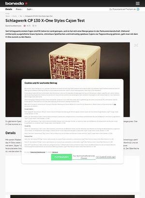 Bonedo.de Schlagwerk CP 130 X-One Styles