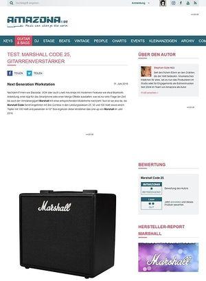 Amazona.de Test: Marshall Code 25, Gitarrenverstärker