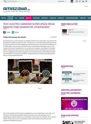 Amazona.de Test: Electro Harmonix Super Space Drum, Random Tone Generator, Stompboxen