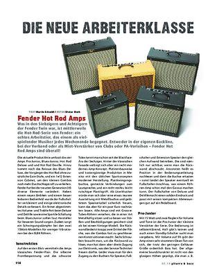 Gitarre & Bass Fender Hot Rod Amps, Röhren-Combos