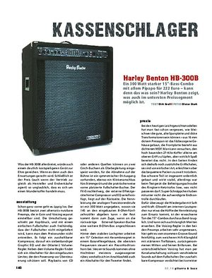 Gitarre & Bass Harley Benton HB-300B, Bass-Combo