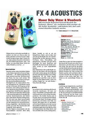 Gitarre & Bass Mooer Baby Water & Woodverb, Acoustic-Effekte