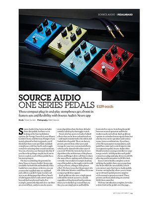 Guitarist Source Audio Gemini Chorus