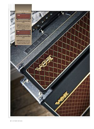 Guitarist Vox AC15 Custom Head, AC30 Custom Head