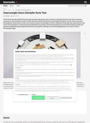 Bonedo.de Snareweight Snare Dämpfer Serie Test