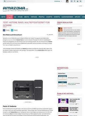 Amazona.de Test: Hotone Ravo, Multieffektgerät für Gitarre