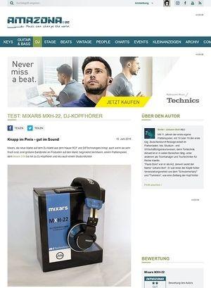 Amazona.de Test: Mixars MXH-22, DJ-Kopfhörer