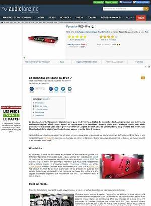 Audiofanzine.com Focusrite RED 4Pre