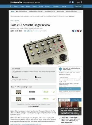 MusicRadar.com Boss VE-8 Acoustic Singer