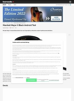 Bonedo.de Marshall Major II Black Android