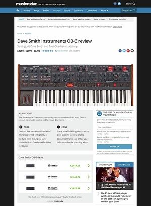 MusicRadar.com Dave Smith Instruments OB-6