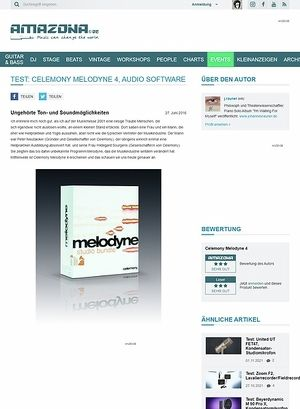 Amazona.de Test: Celemony Melodyne 4, Audio Software