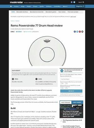 MusicRadar.com Remo Powerstroke 77 Drum Head