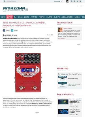 Amazona.de Test: Two Notes Le Lead Dual Channel Preamp, Gitarrenpreamp