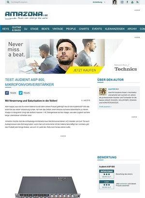 Amazona.de Test: Audient ASP 800, Mikrofonvorverstärker