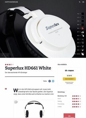 Kopfhoerer.de Superlux HD-661 White