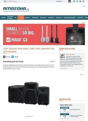 Amazona.de Test: Mackie SRM 450v3 und SRM 1550, Aktivanlage