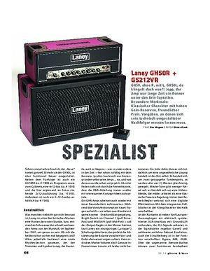 Gitarre & Bass Laney GH50R + Cab, Tube-Stack