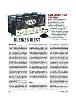 Gitarre & Bass EVH 5150III 15W LBX Head, Röhren-Topteil