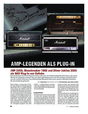 Gitarre & Bass Marshall-Amps als UAD Plug-In von Softube