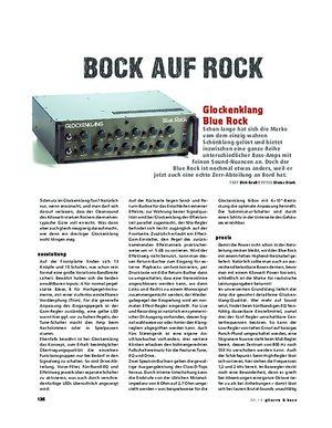 Gitarre & Bass Glockenklang Blue Rock, Bass-Head