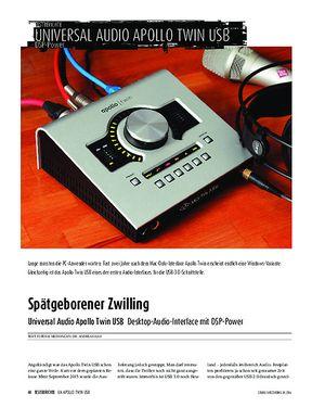 Sound & Recording Universal Audio Apollo Twin USB - Desktop-Audio-Interface mit DSP-Power