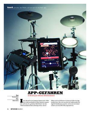 Sticks Yamaha DTX750K E-Drum-Set & DTX700 App
