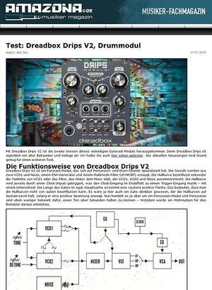 Amazona.de Test: Dreadbox Drips, Drum-Modul
