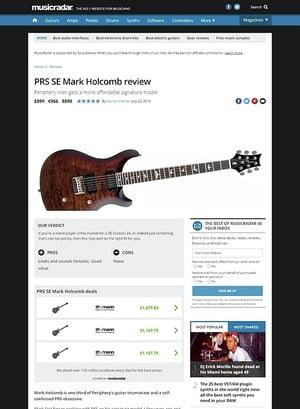 MusicRadar.com PRS SE Mark Holcomb