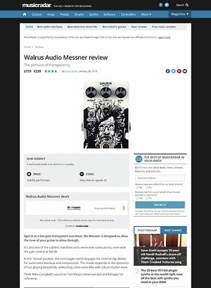 MusicRadar.com Walrus Audio Messner