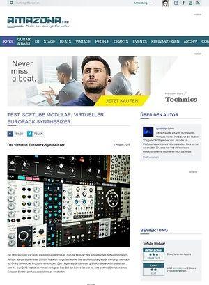 Amazona.de TEST: Softube Modular, virtueller Eurorack Synthesizer