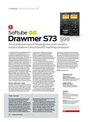 Computer Music Softube Drawmer S73