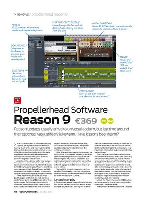 Computer Music Propellerhead Software Reason 9