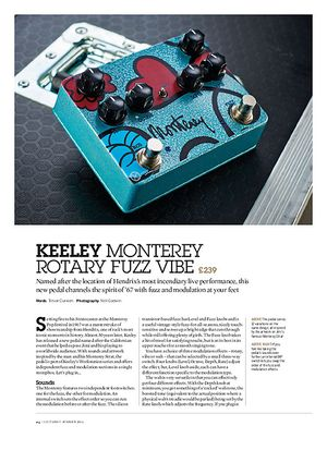 Guitarist Keeley Monterey Rotary Fuzz Vibe