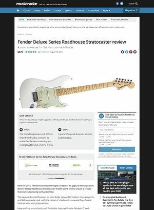 MusicRadar.com Fender Deluxe Series Roadhouse Stratocaster