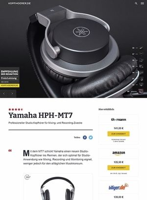 Kopfhoerer.de Yamaha HPH-MT7