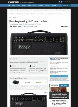 MusicRadar.com Mesa Engineering JP-2C Head
