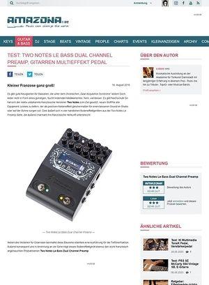 Amazona.de Test: Two Notes Le Bass Dual Channel Preamp, Effektgerät für Bass