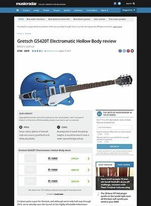 MusicRadar.com Gretsch G5420T Electromatic Hollow Body