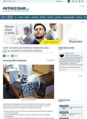 Amazona.de Test: Studio Electronics Tonestar 2600, STE.16, Quadnic, Eurorack Module