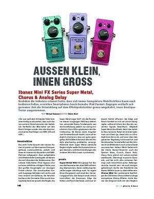 Gitarre & Bass Ibanez Mini FX Series Super Metal, Chorus & Analog Delay