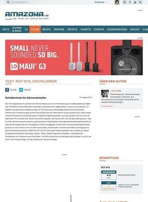 Amazona.de Test: RCF M18, Digitalmixer